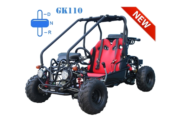 Gk110 110cc Youth Go Kart 2 Seat